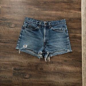 Orange Tab Vintage Levi's Cut off Shorts 29